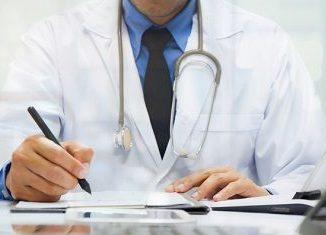 medicine doctor working with computer notebook and digital tablet