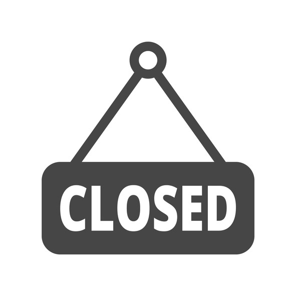 Closed sign icon. Trendy Closed sign logo concept on white background from museum collection. Suitable for use on web apps, mobile apps and print media.