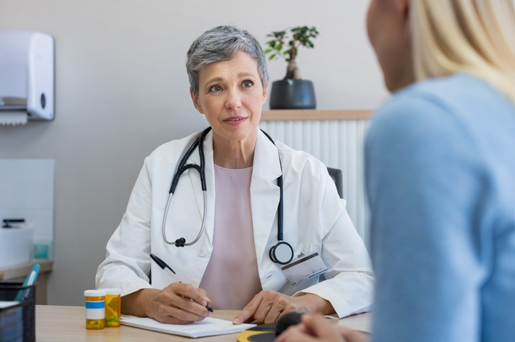 Doctor in a consultation