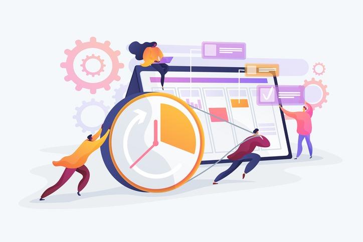 Time management concept vector illustration