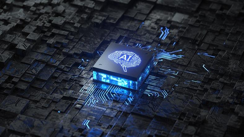 AI,Artificial Intelligence concept,Circuit board