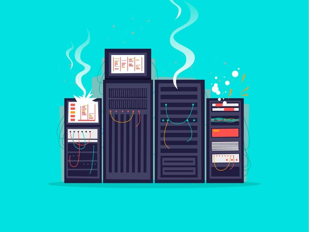 broken-server-flat-design-vector-illustration-vector-id891310716