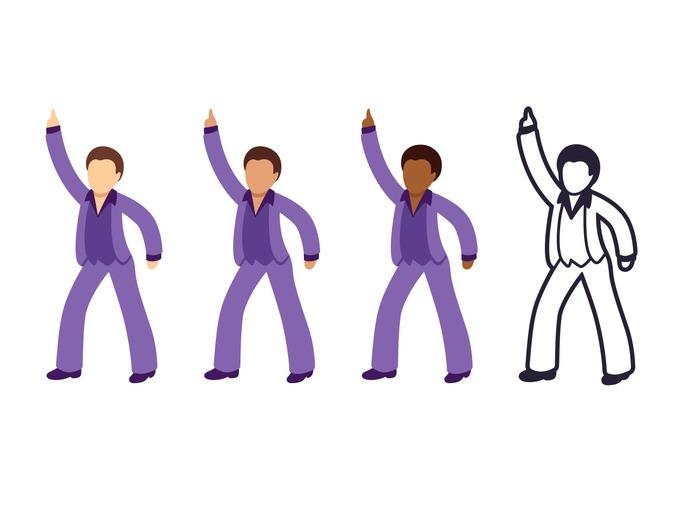 Disco dancing man