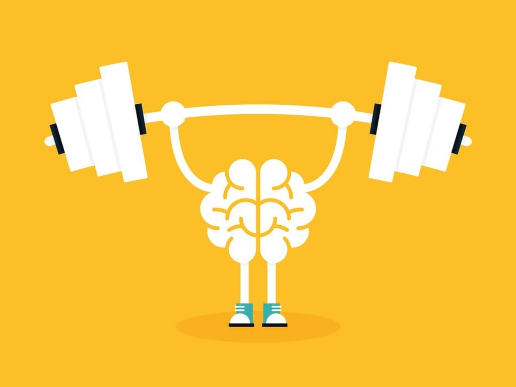 brain-training-with-weightlifting-flat-design-creative-idea-concept-vector-id867213228