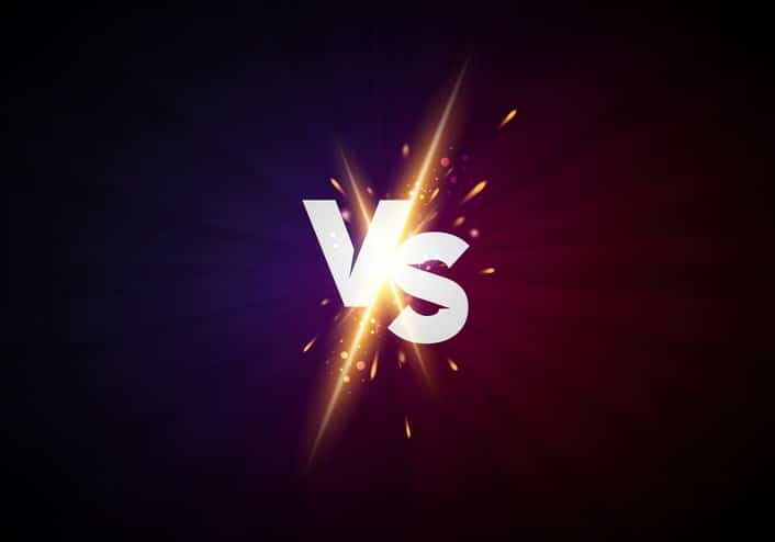 Vector illustration versus screen design background. vs letters for sports and fight competition. Battle concept promo banner.