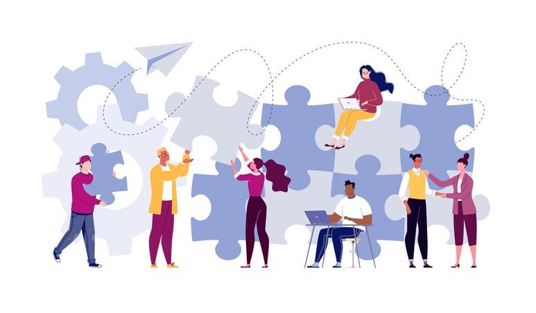 Symbol of teamwork, cooperation, partnership.