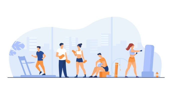 image of people working out in a group
