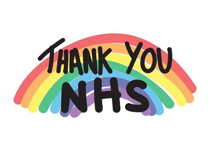 Thank you NHS rainbow vector