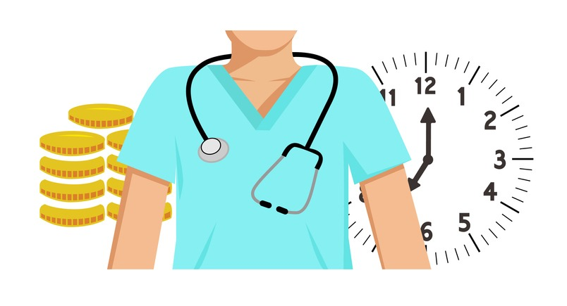 Medical staff pay and hours